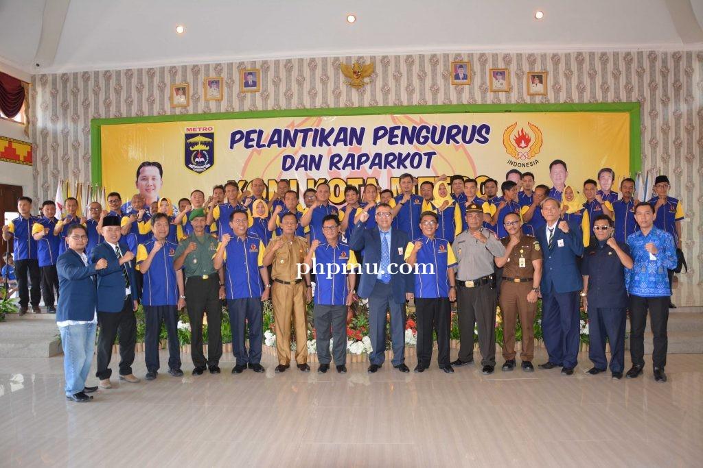 Pelantikan Pengurus KONI Kota Metro Periode 2018-2022