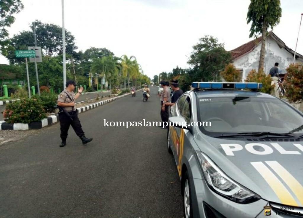 Antisipasi Balap Liar, Polsek Kota Agung Patroli Jalur Islamic Center