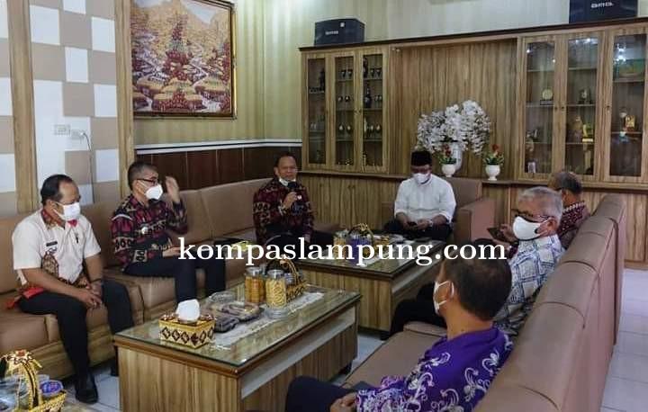 Wakil Bupati Lamteng Terima Kunjungan Dari Plt. Kepala Perwakilan BKKBN Provinsi Lampung