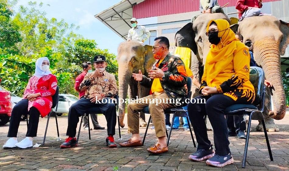 Bupati Lamtim Menerima Silaturahmi dengan Irjen Pol Purn DR. H. Ike Edwin