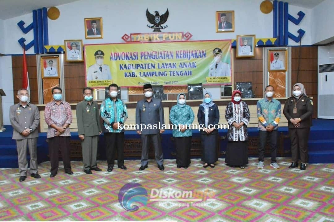 Ardito Wijaya Buka Acara Advokasi Penguatan Kebijakan Kabupaten Layak Anak Kabupaten Lampung Tengah