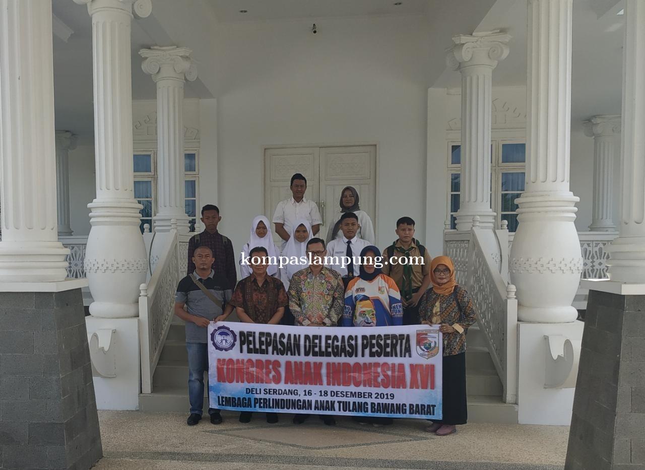 5 Orang Siswa-Siswi Yang Mewakili Tulang Bawang Barat Mengkuti Kongres Anak Indonesia XVI
