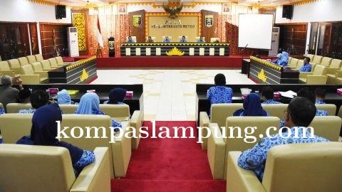 Sekda Beserta Kepala OPD Lakukan Rapat Pengawasan Work From Home Dan Sosialisasi Covid 19