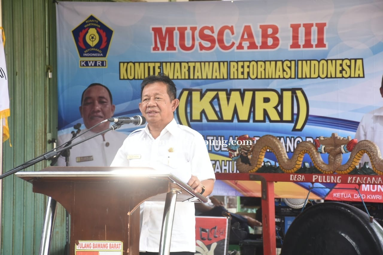 Wakil Bupati Tubaba H. Fauzi Hasan, SE, MM hadiri Muscab III (KWRI)