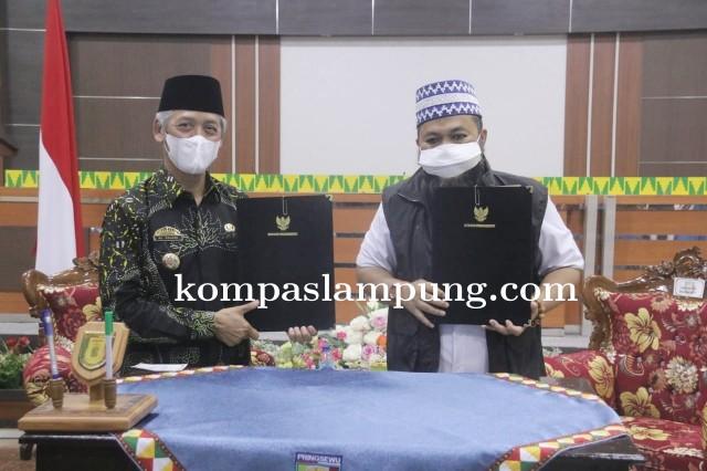 Bupati Pringsewu Menerima Kunjungan Walikota Bengkulu
