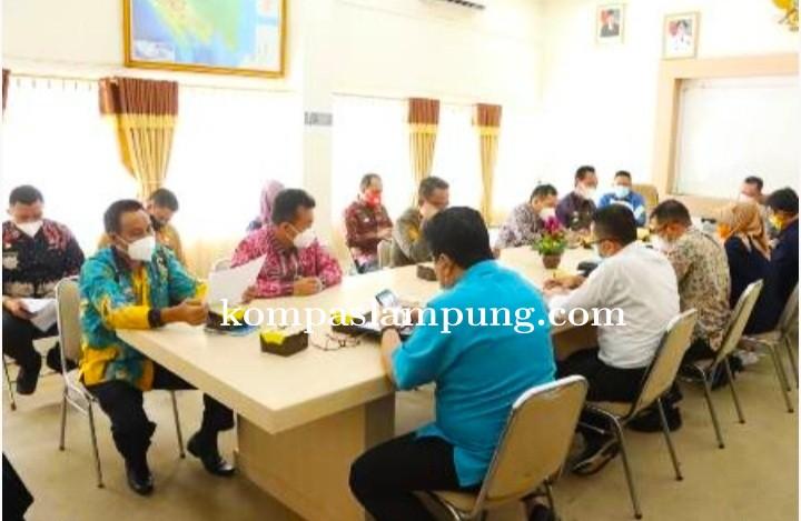 Pemprov Lampung Rapat Persiapan Kunjungan Menko Kemaritiman Dan Investasi