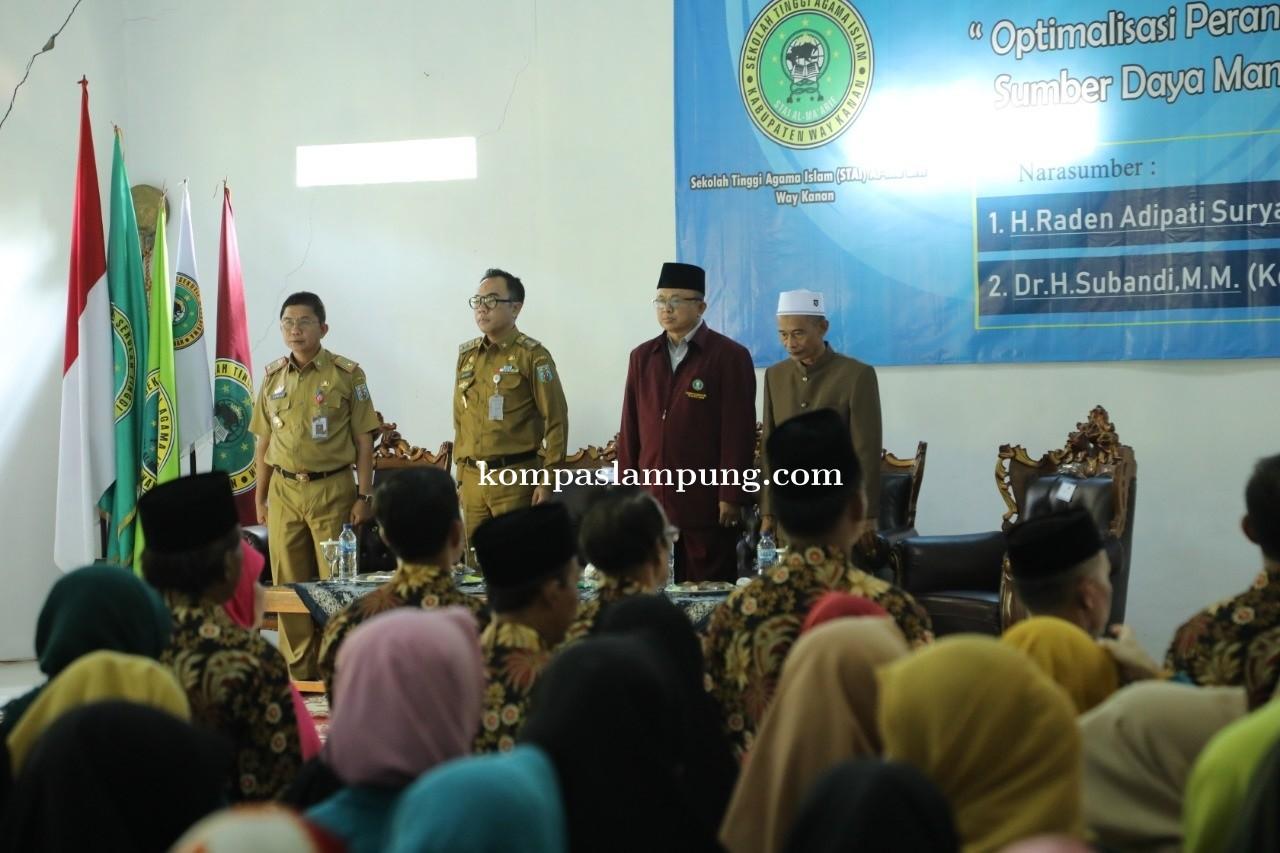Bupati Raden Adipati Hadiri Kuliah Umum Sekolah Tinggi Agama Islam Al-Maarif