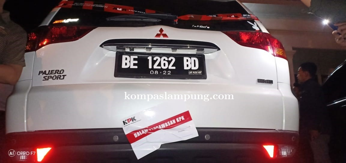 Lagi-Lagi Pejabat Lampung Kena OTT,  KPK Sambangi Rumdis Bupati Lampung Utara
