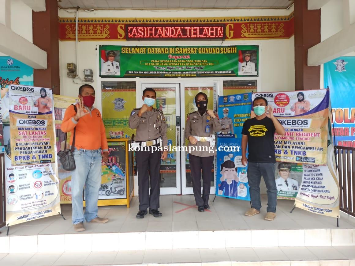 Dengan OKEBOS Kini Masyarakat Lampung Tengah Bisa Ambil BPKB Di Samsat Cukup Dari Rumah