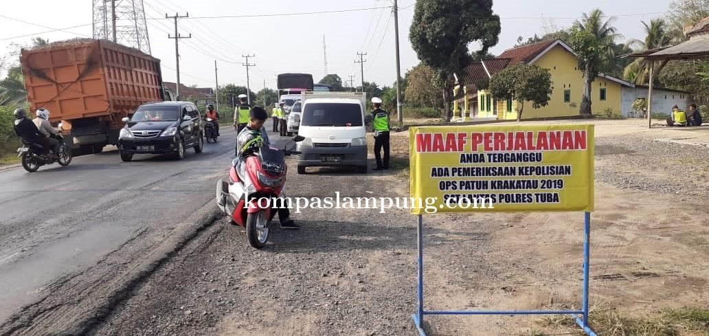 Dua Hari Operasi Patuh Krakatau 2019, Satlantas Polres Tulang Bawang Tilang 356 Pelanggar