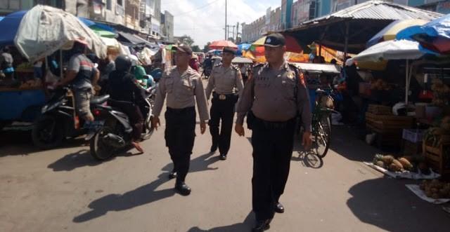 Polsek Metro Pusat Patroli Jalan Kaki Diwilayah Pasar Metro