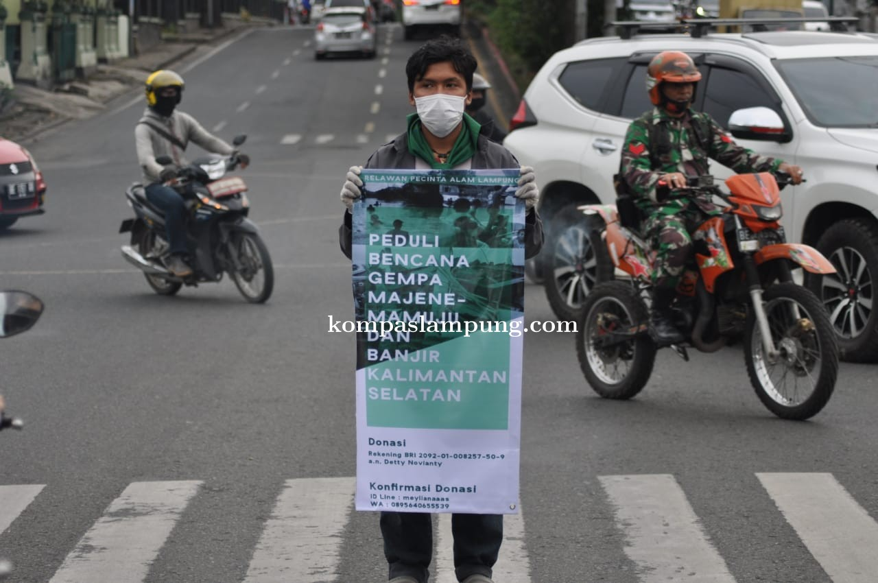 Relawan Pecinta Alam Lampung Galang Dana Peduli Gempa Sulbar dan Banjir Kalsel