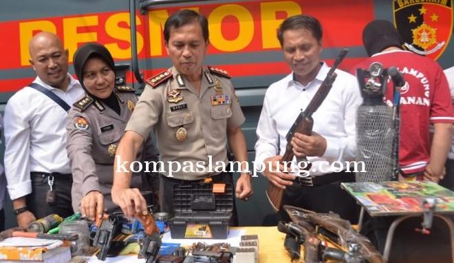 Warga Metro Heboh, Pabrik Senjata Api Rakitan Digrebek Polda Lampung