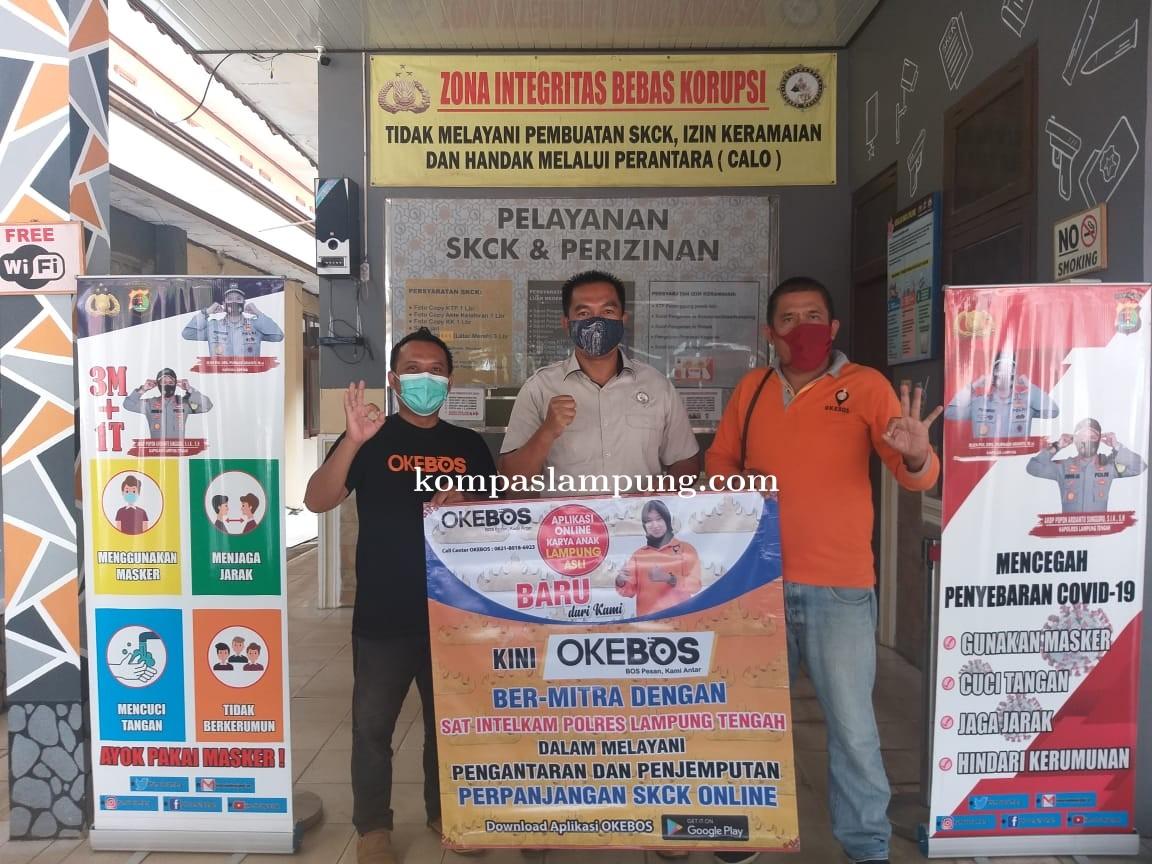 Polres Lampung Tengah Gandeng Aplikasi OKEBOS Dalam Layanan Perpanjangan SKCK Online