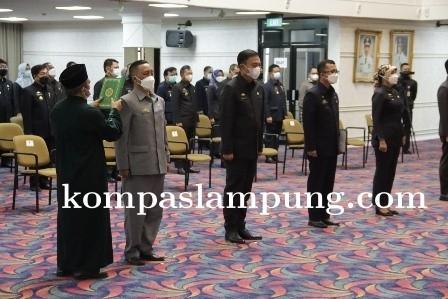 Gubernur Lampung Lantik Delapan Pejabat Pimpinan Tinggi Pratama