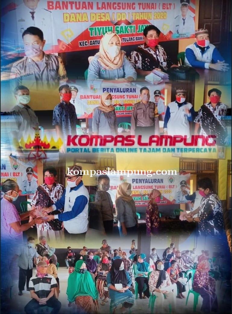 Pemerintahan Tiyuh Sakti Jaya Salurkan BLT Dari Dana Desa Hari Ini Sebanyak 53 KK
