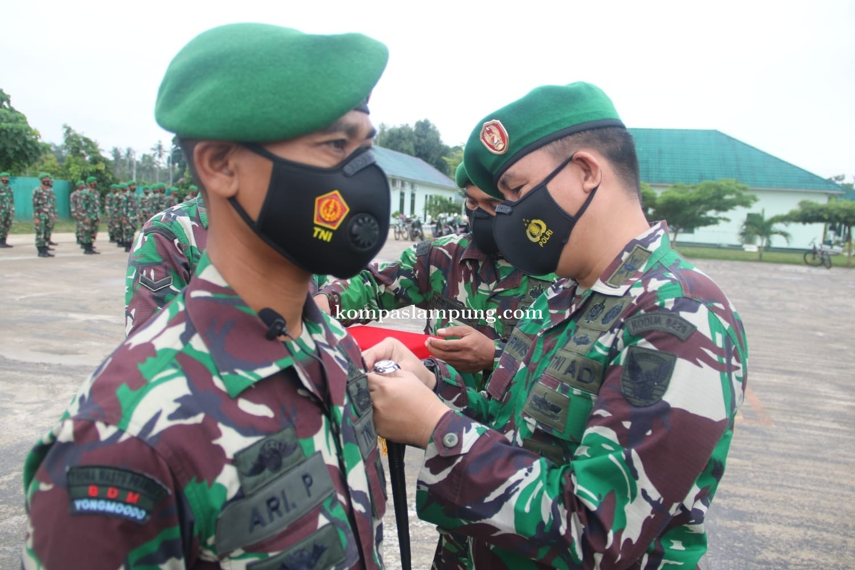 Dandim 0429/Lampung Timur Pimpin Acara Korps Raport Anggota Pindah Satuan
