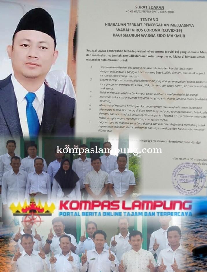 Pemerintahan Tiyuh Sido Makmur Mengeluarkan Surat Edaran Upaya Pencegahan Covid-19