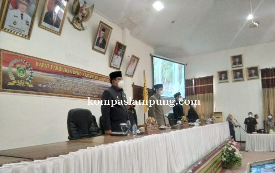 Kapolres Lamteng Menghadiri Rapat Pari Purna DPRD Tentang  Perubahan Anggaran