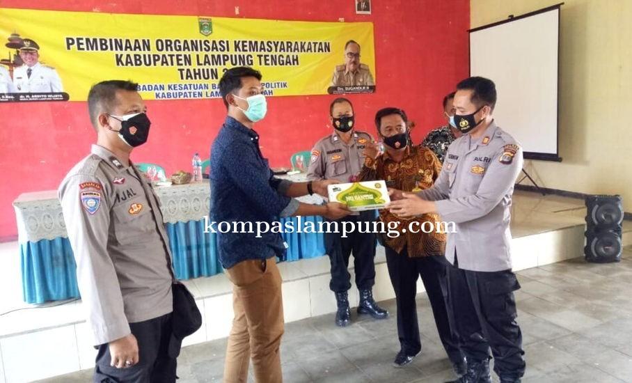 Sat Binmas Polres Lamteng Lakukan Pembinaan Terhadap Ormas Jaga Kondisifitas Wilayah