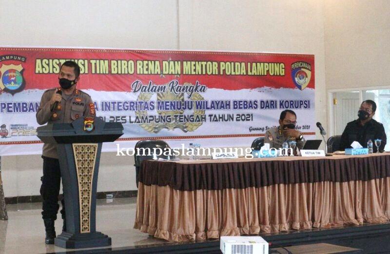 Tim Asistensi ZI Birorena Polda Lampung Kunjungi Polres Lamteng Dalam Rangka Pembangunan Menuju Wila