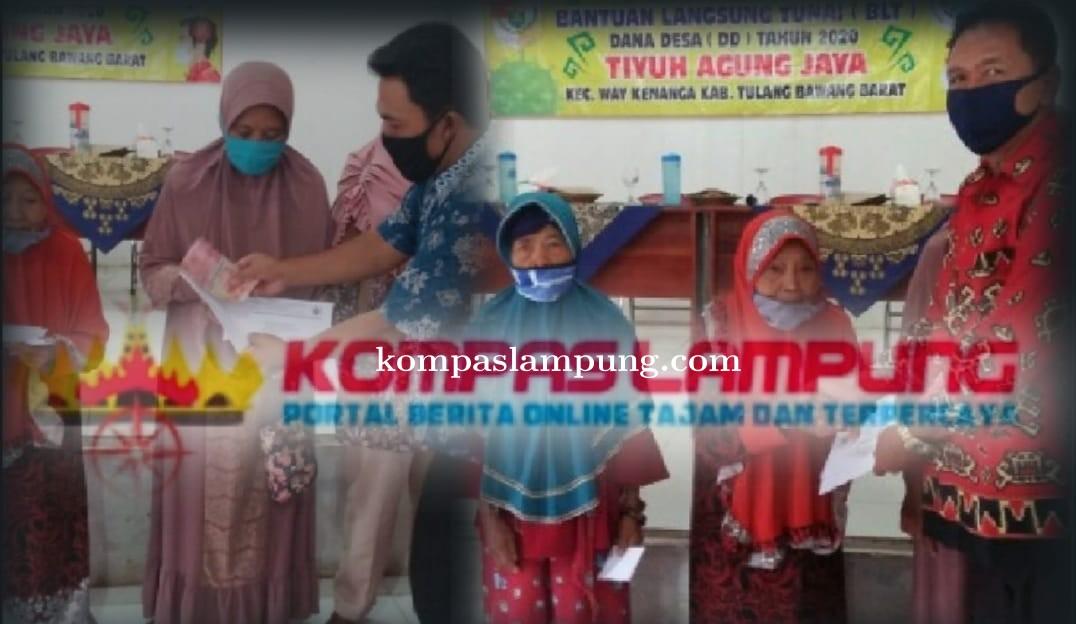 Pemerintah Tiyuh Agung Jaya Tubaba Bagikan BLT DD  Tahap Ke-II Dan Ke-III