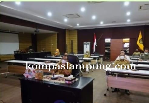 Bupati Lamteng Hadiri Rapat Konsolidasi Penanganan Covid-19 Kabupaten/Kota Se-Lampung