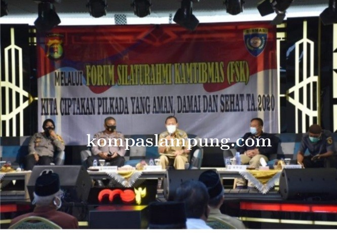 Wali Kota Metro, Menghadiri Forum Silaturahmi Kamtibmas (FSK) Di Gedung MSI Mart