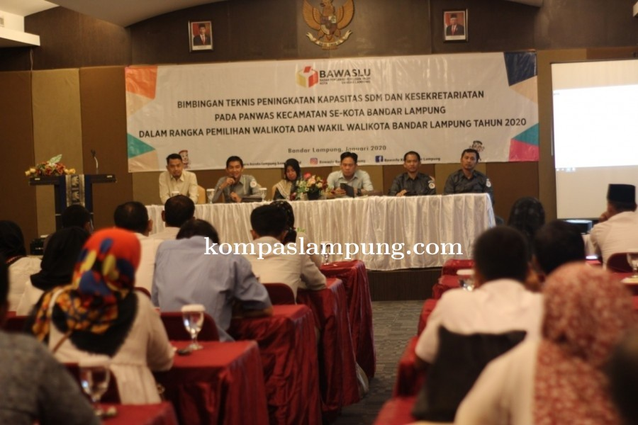 Panwascam Bandar Lampung Mengikuti Bimbingan Teknis Penguatan SDM