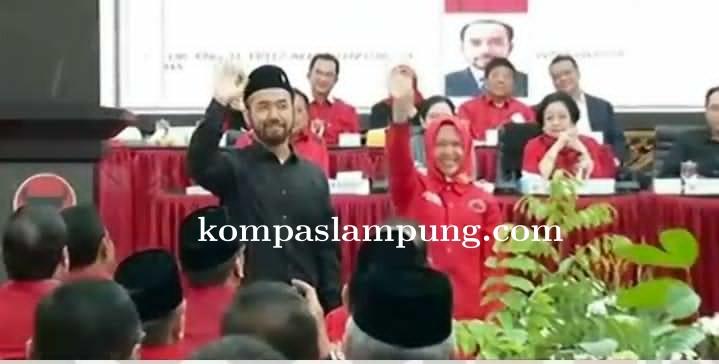 PDIP Resmi Usung Anna Morinda Dan Fritz Akhmad Sebagai Wali dan Wakil Wali Kota Metro