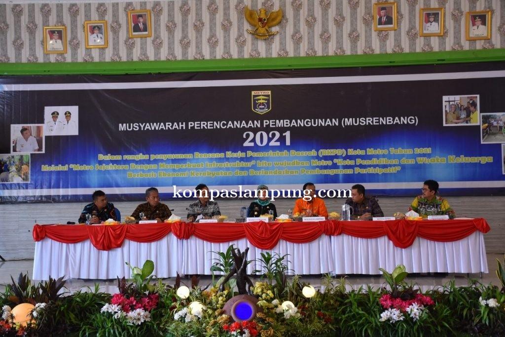 Musrenbang Tingkat Kota Metro Dihadiri Wakil Gubernur Lampung Chusnunia Chalim