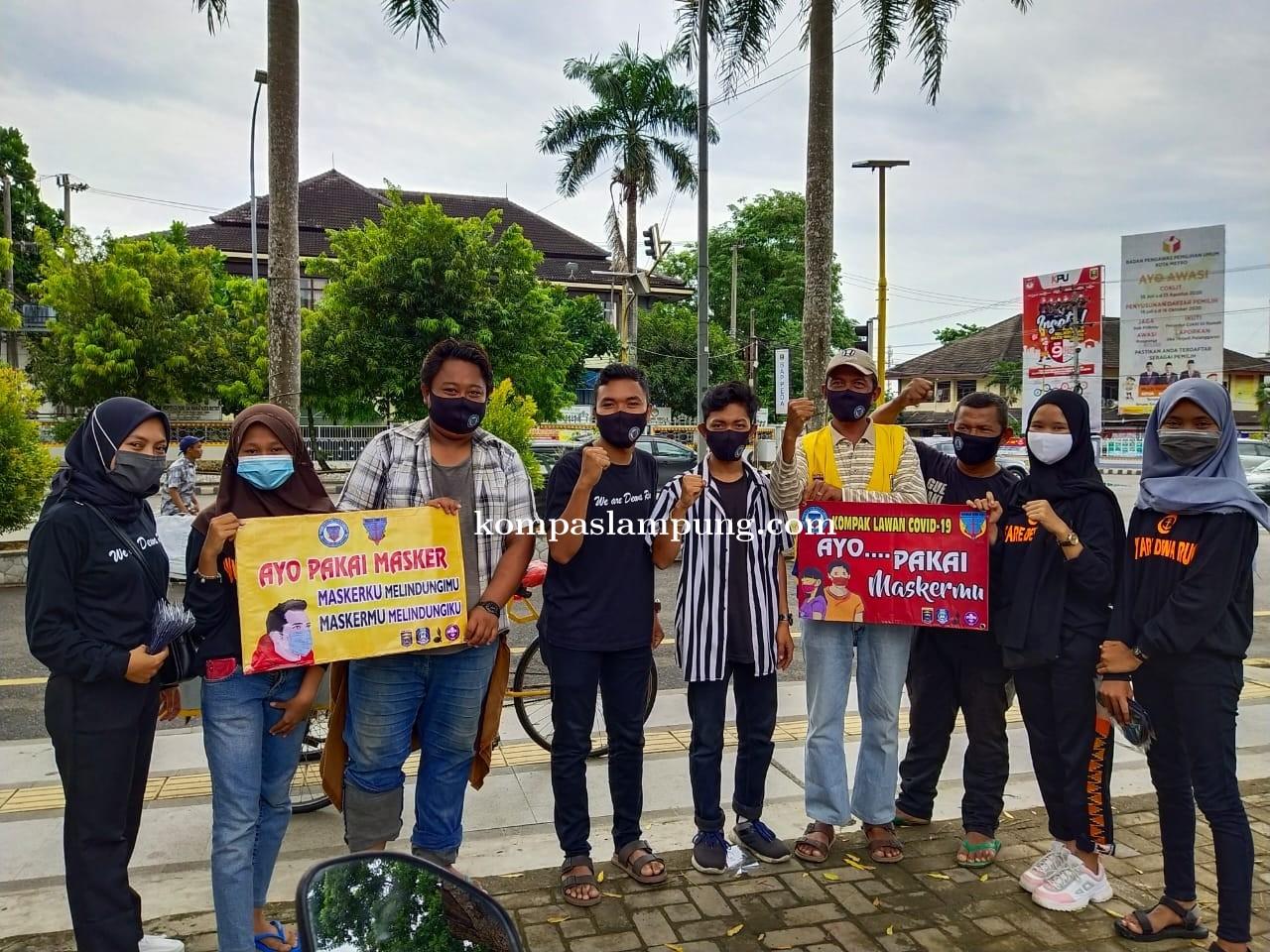 PPDR Kota Metro Sosialisasikan Protokol Kesehatan Dan Bagikan Ratusan Masker