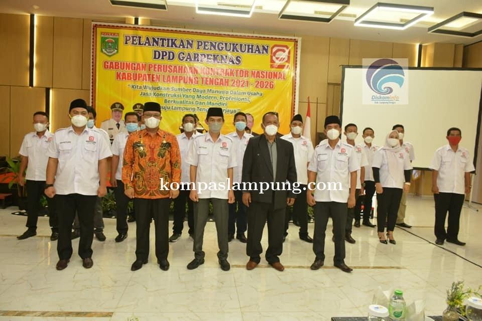 Wakil Bupati Hadiri Acara Pengukuhan DPD Gabpeknas Lamteng