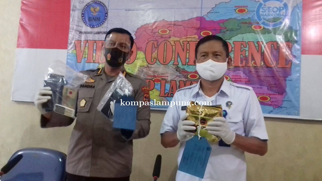 Mencoba Edarkan 1Kg Sabu BNN Provinsi Lampung Amankan Dua Oknum Polisi, Satu Berasal Dari Metro