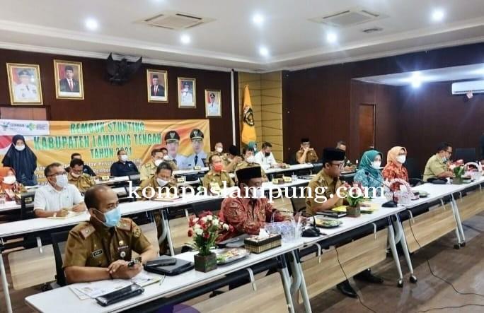 Wakil Bupati Sampaikan Tujuan Utama Dari Rembuk Stunting Kabupaten Lampung Tengah