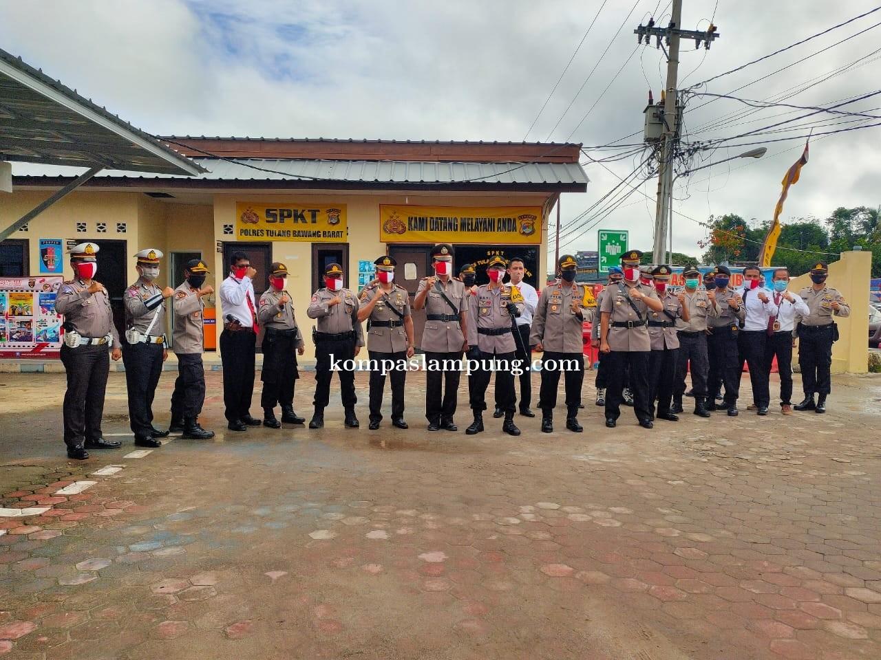 Porles Tubaba Melaksanakan Sertijab Kasat Reskrim Dan Kasatbinmas Tubaba Yang Baru