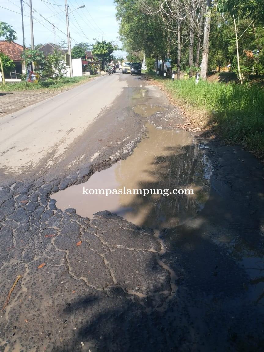 Jalan Negara Lintas Antar Kabupaten Kota Tak Kunjung Di Perbaiki