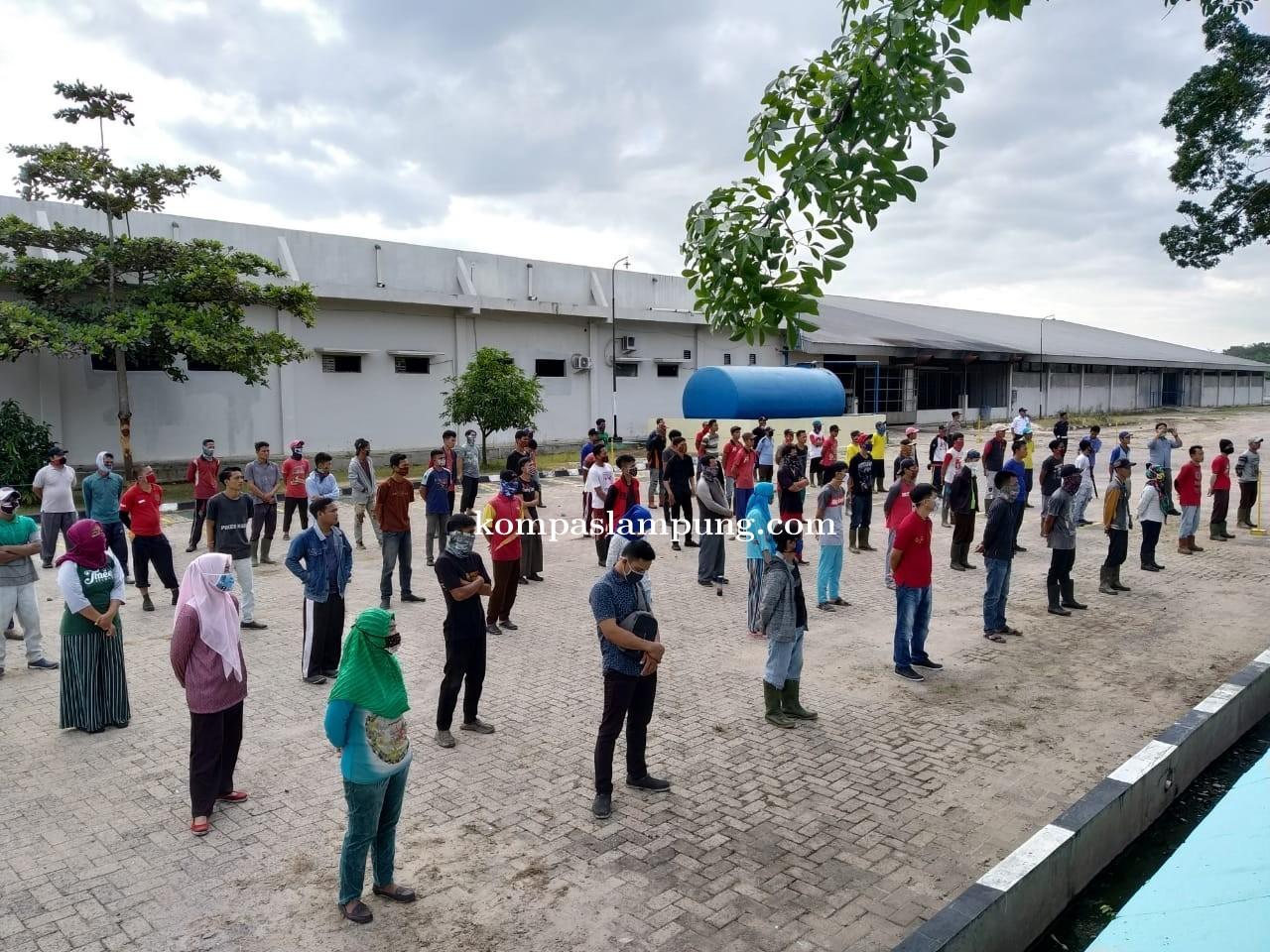 Polres Tuba Lakukan Social Distancing Dan Physical Distancing Kepada Ratusan Karyawan Perusahaan