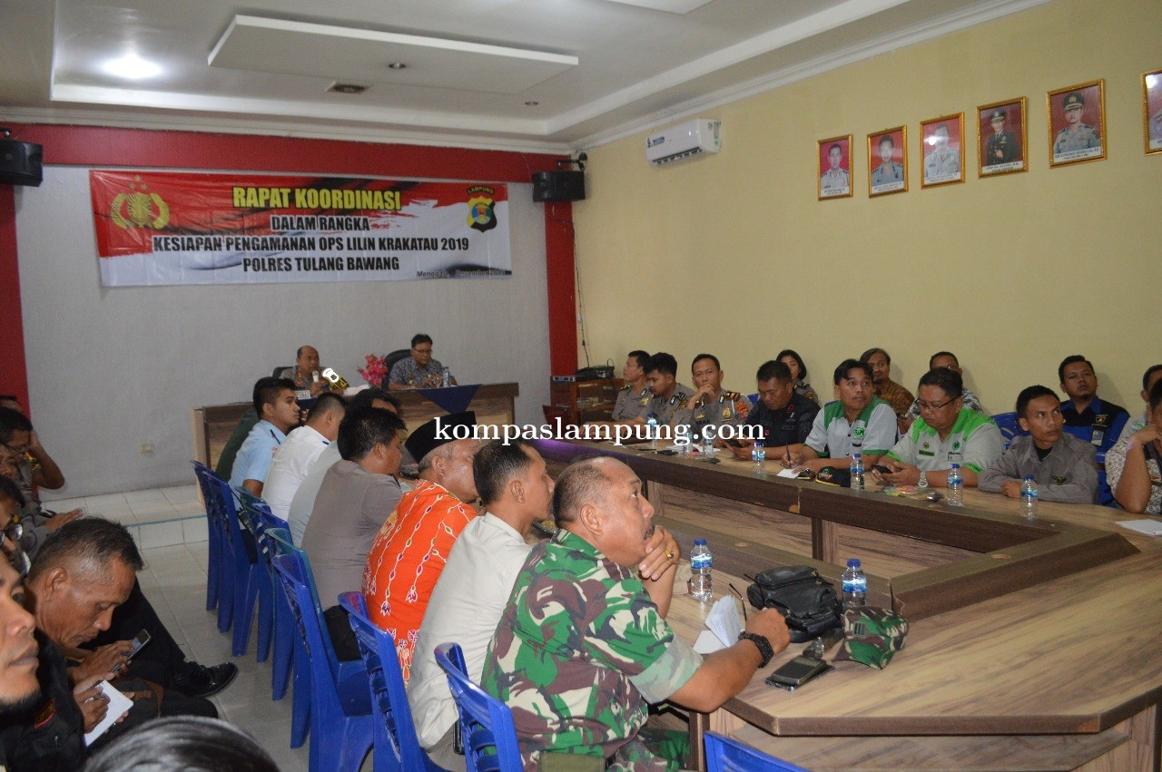 Polres Tulang Bawang Gelar Rakor Kesiapan Operasi Lilin Krakatau 2019