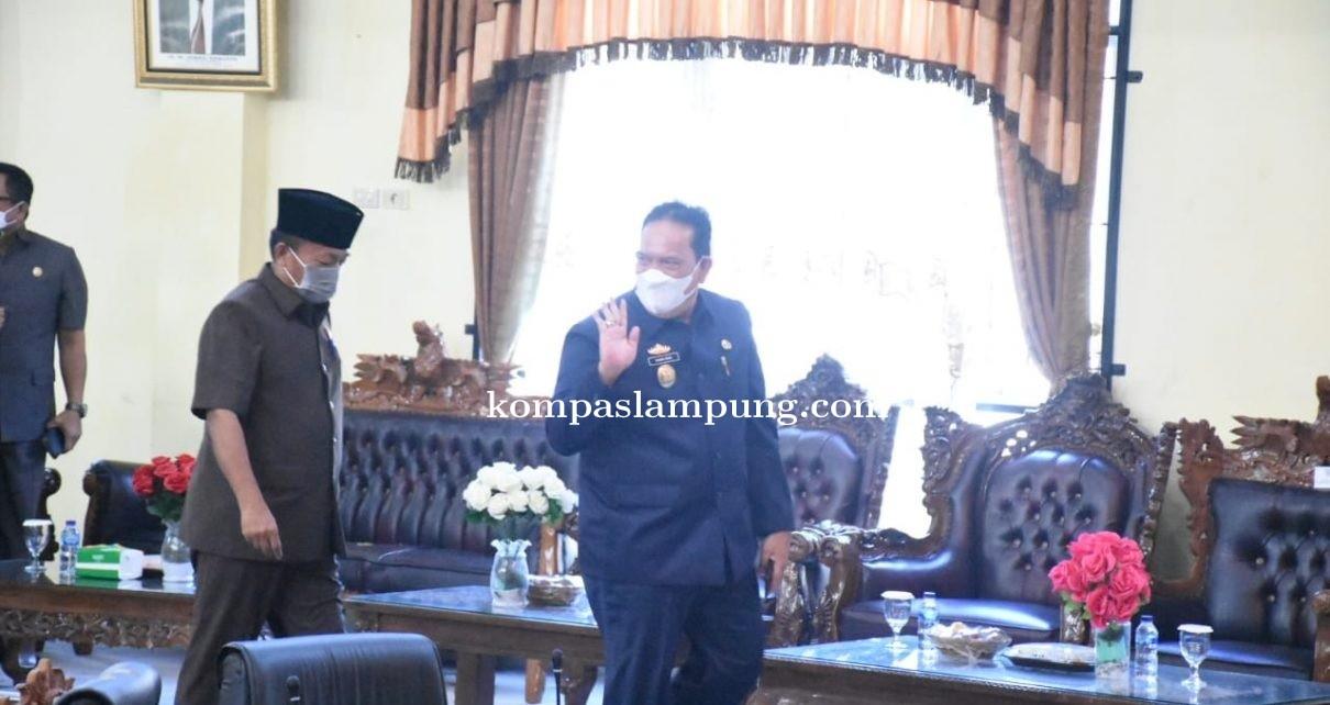 DPRD Lampung Timur Adakan Rapat Paripurna Penyampayan LPPA Tahun Anggaran 2020
