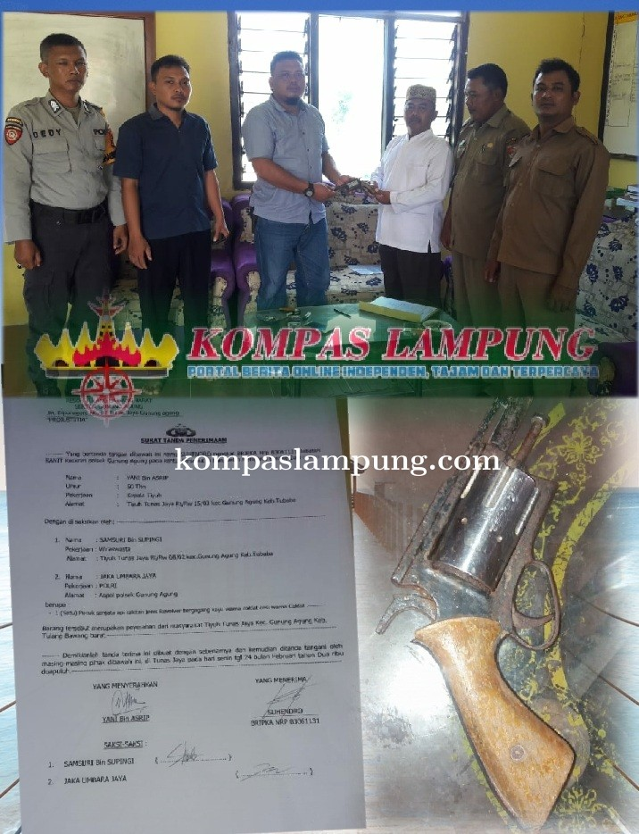 Dalam Rangka OPS Cempaka Krakatau 2020  Polsek Gunung Agung Menerima 1 Senpira