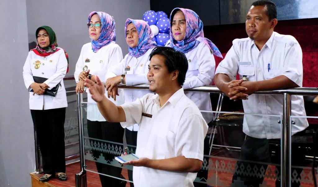 Usai Launching, Diskominfotik Provinsi Lampung Langsung Tinjau Metro Cammand Center