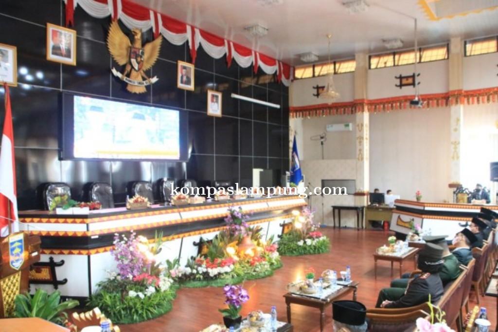 Sambut HUT RI Ke-76, DPRD Metro Sidang Pidato Presiden RI Joko Widodo Secara Virtual