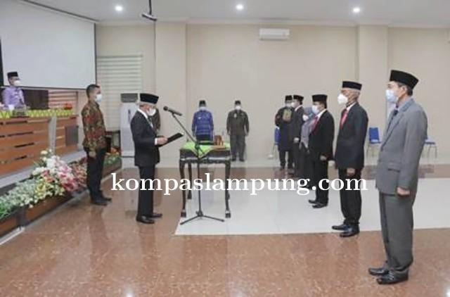 Bupati Pringsewu Lantik 5 Pejabat Pimpinan Tinggi Pratama