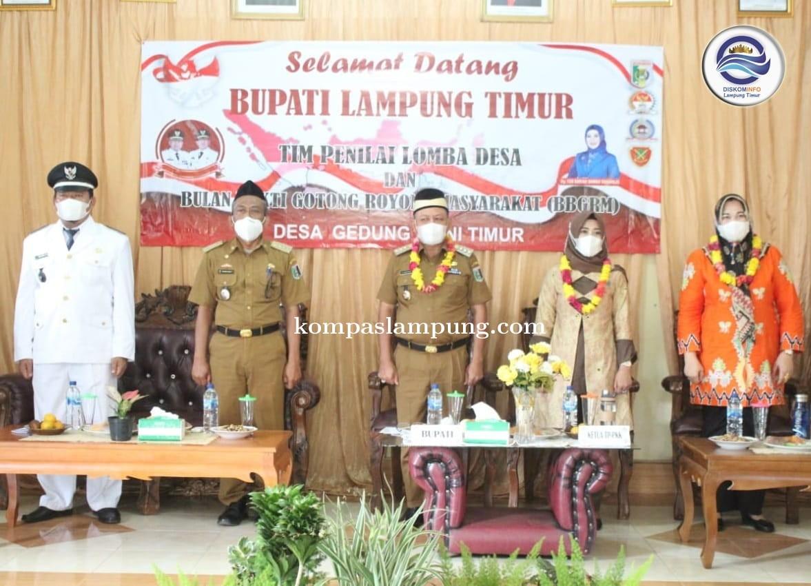Bupati Lamtim M Dawam Raharjo Membuka Acara BBGRM Kecamatan Marga Tiga