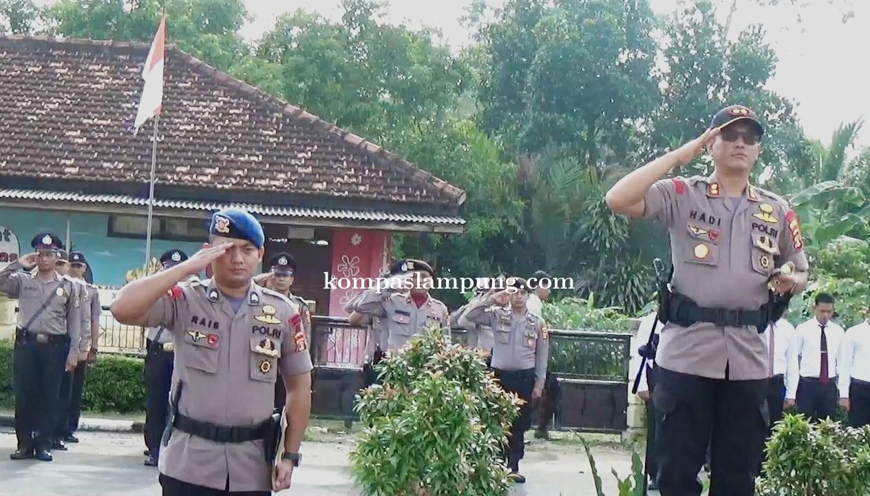 Kepolisian Tubaba Gelar Apel Bulanan Dalam Rangka Memperingati Hari Kesadaran Nasional