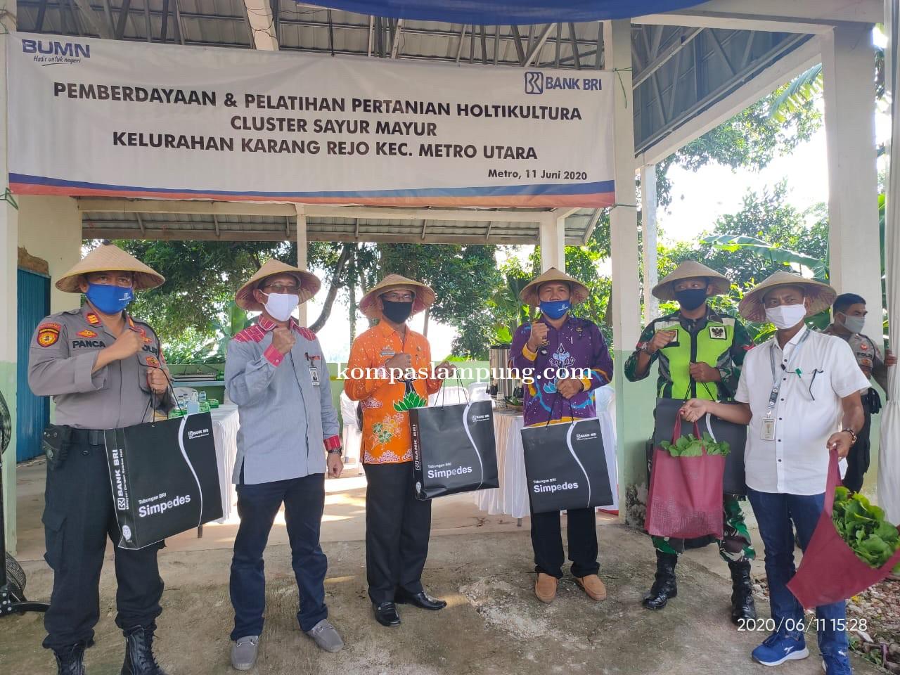 BRI Sudirman Kota Metro Lakukan Pemberdayaan Dan Pelatihan Pertanian Di Kelurahan Karangrejo