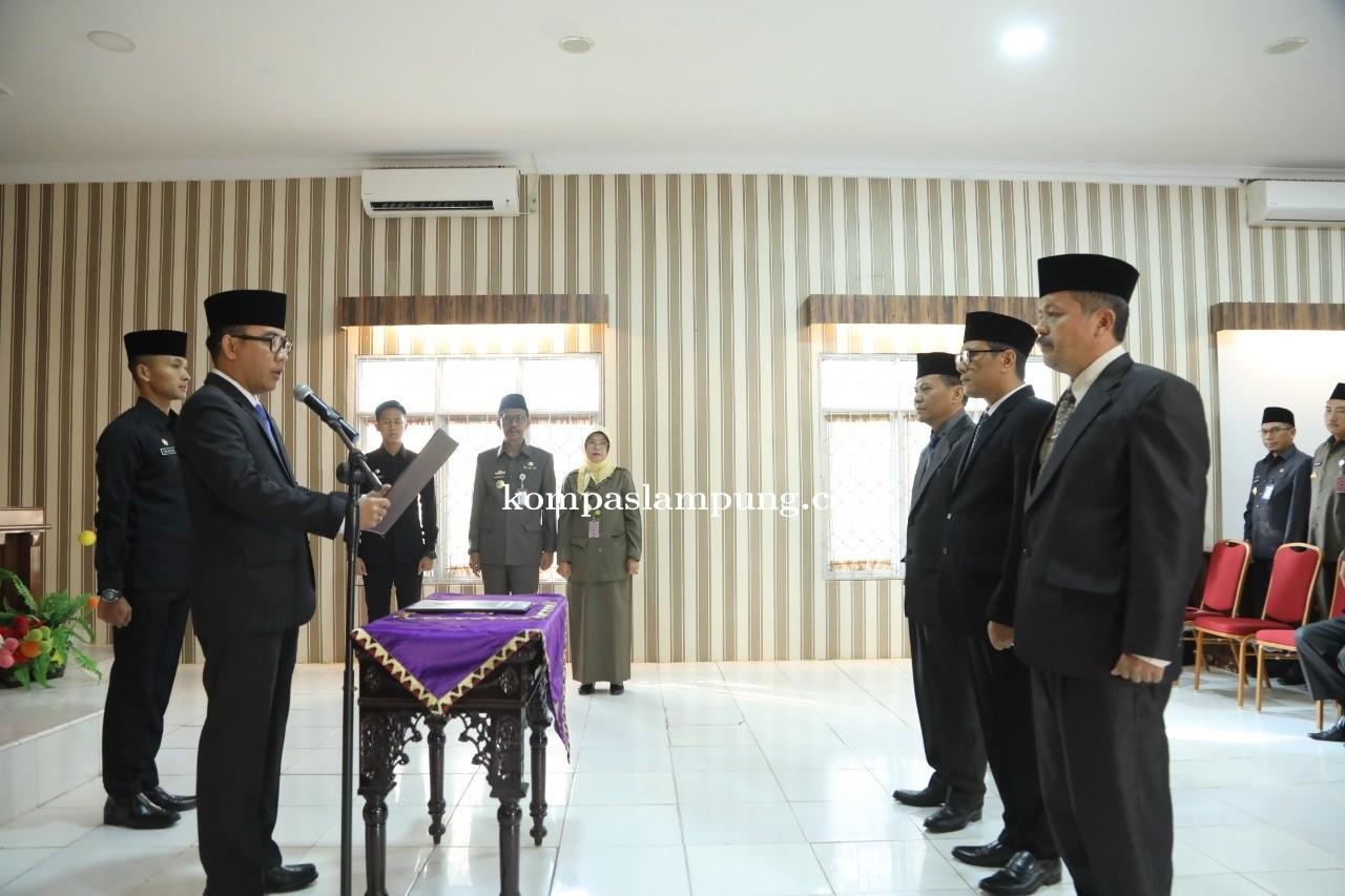 Bupati Raden Adipati Surya Lantik Tiga Pejabat Struktural Di Lingkungan Pemerintah Kabupaten Way Kan