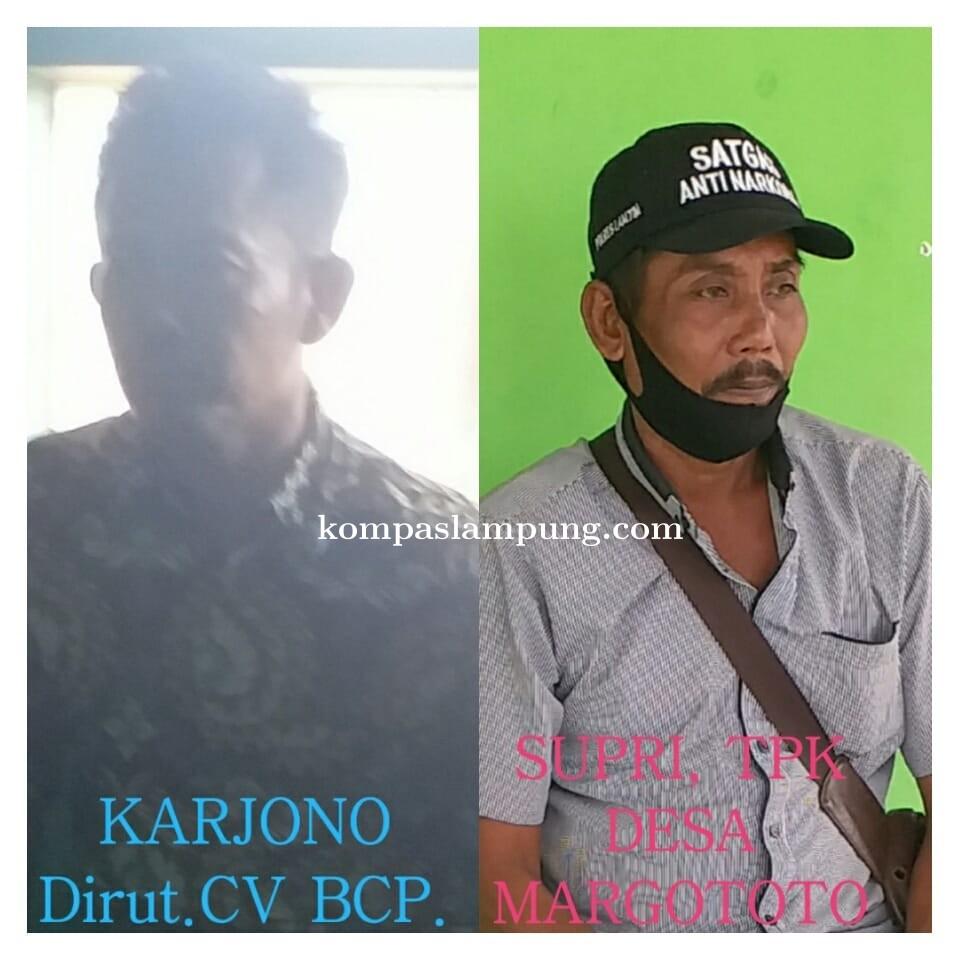 Di Duga TPK Dan Kades Margototo Bareng CV BCP Lakukan KKN
