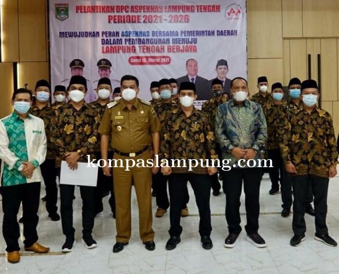 Musa Ahmad Hadiri Acara Pelantikan DPC Aspeknas Lampung Tengah Periode 2021-2026